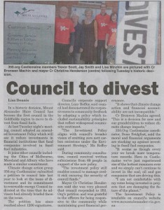 Midland Express Article - Council divests - 19 April 2016
